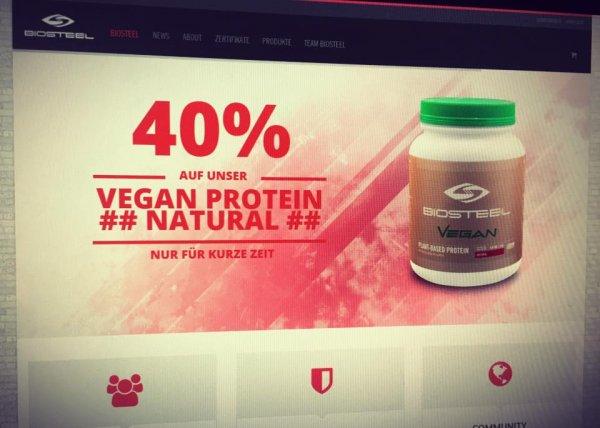 40% auf veganes Protein von Biosteel + 4x High Performance Sports Drink Gratis!