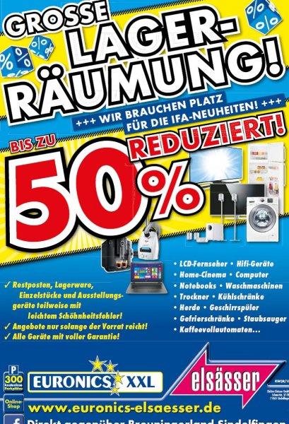 Lokal: Stuttgart / Sindelfingen bis zu -50% Rabatt Euronics Elsässer Lagerräumung