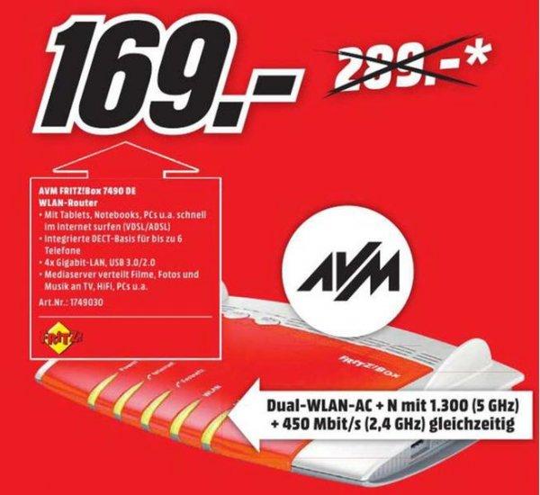 [lokal Heidelberg] Media Markt - AVM FRITZ!Box 7490 - 169 EUR