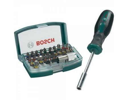 Bosch 32-tlg. Bit-Set + Bithalter-Schraubendreher für 9,99€