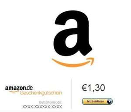 Amazon Gutschein 1,30EUR für 1EUR bei eBay