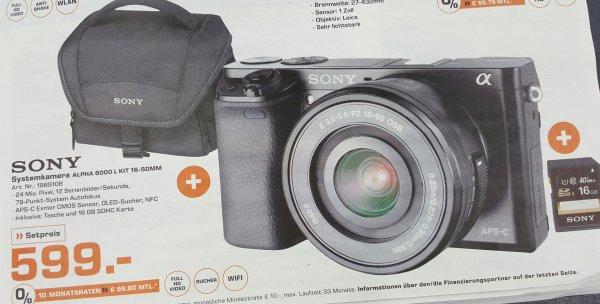 [Braunschweig] Sony alpha 6000 + Tasche + SD Karte für 599 Euronen