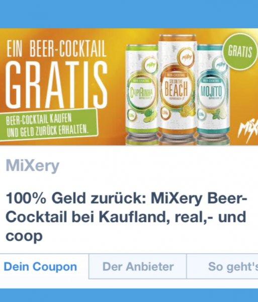 [Coupies] 5x 1 Dose MiXery Beer-Cocktail (also 5 Dosen) von Kaufland, real,- und coop bis 30.09.2015.