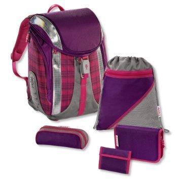 Step by Step Flexline Dahlia&Ultrablue Checked Schultaschen-Set 5-teilig@XXXLshop