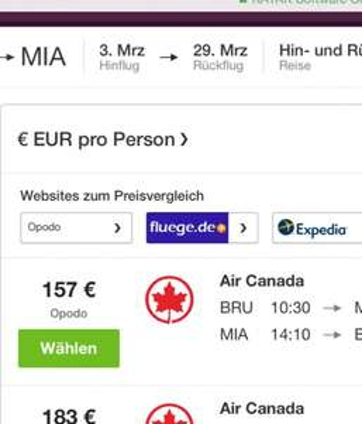 Flüge Brüssel-Miami (HuZ) im März 2016 ab 157€