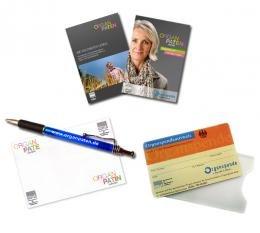 Organpaten.de - gratis Infopaket ( Kugelschreiber, Haftnotizblock, Organspendeausweis etc.)