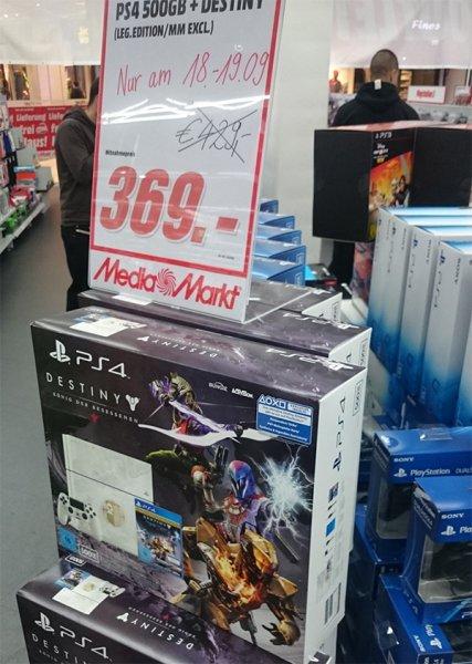Weiße PS4 Destiny Limited Edition @MediaMarkt Stuttgart Milaneo