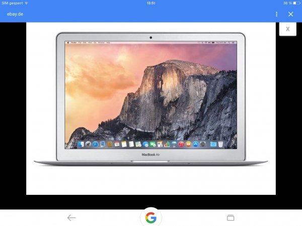 """Apple MacBook Air 11"""", 1,6 GHz, 128 GB SSD, 4 GB RAM für 777€ bei gravis/eBay, zus. 20€ Click & Collect möglich."""