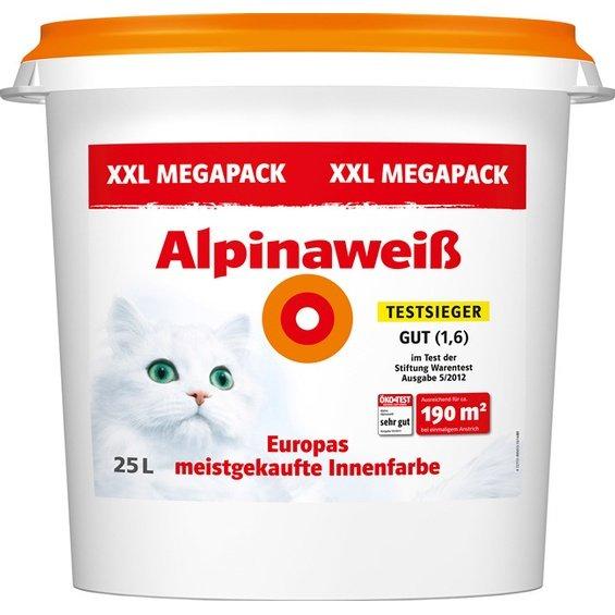 Alpina Alpinaweiß matt (die mit Katze) 25 Liter Eimer für 81€ (3,24/Liter) @Obi Filialen