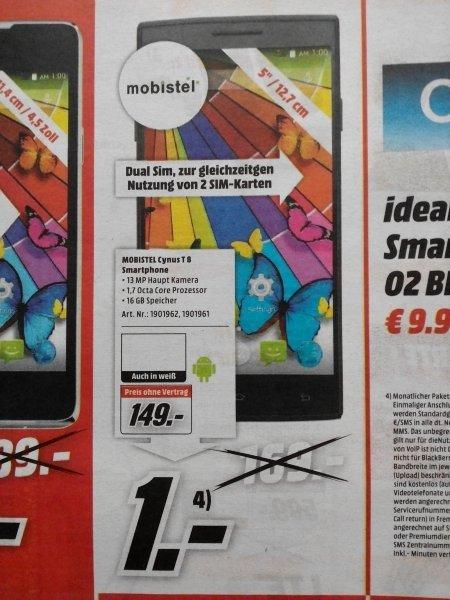 "[lokal Koblenz] Mobistel Cynus T8 5"" IPS HD, 1,7Ghz Octacore 2GB/16GB 13MP Dual Sim"