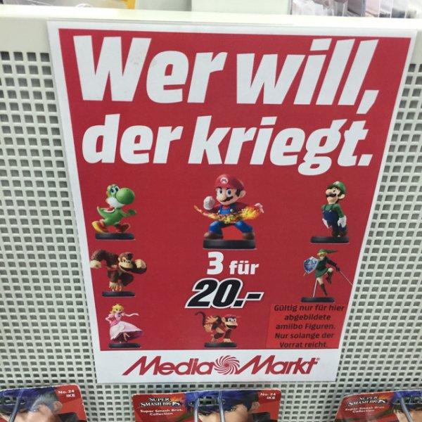 3 Amiibos 20€ (Lokal MM Viernheim