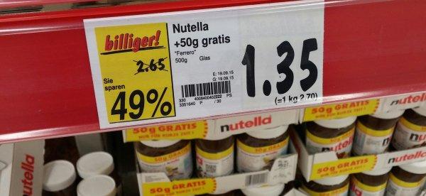 [Kaufland Bochum Ruhrpark] Nutella 500g 1,35€