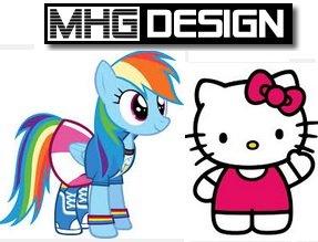 1 von 4 kostenlosen Wandtattoo´s / Stickern (zb Hello Kitty, MHG-Design.de)
