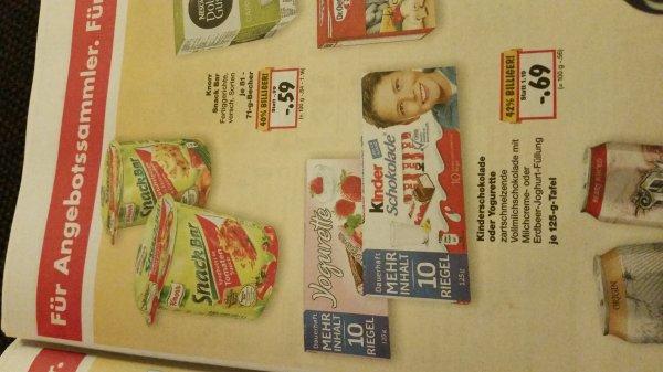 [Kaufland [lokal] [47475 Kamp-Lintfort]Kinderschokolade oder Yogurette 125g