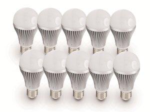 """[Pollin] 10x E27 LED """"Daylite"""" (7W, 450lm, warmweiß) für 19,90€ oder (10W, 806lm, warmweiß, 210°) für 24,45€"""