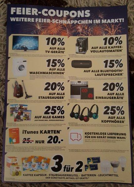 Feier-Coupons MEDIMAX Hannover z.B. 25% auf Spiele