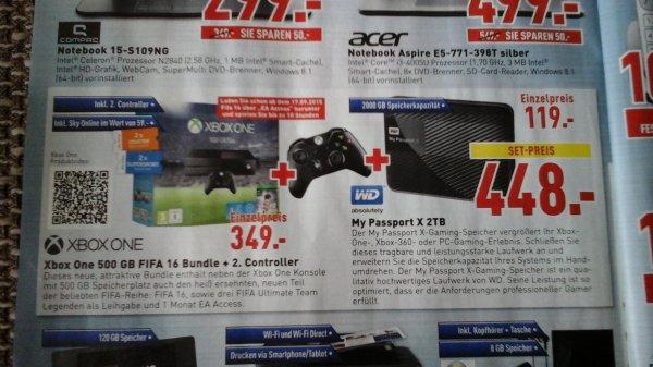 [dodenhof] XBOX One Fifa 16 Bundle + 2. Controller und sky online für 349 €