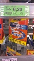 [lokal Rossmann Dresden Bahnhof Neustadt] Gillette Fusion 8er Klingen