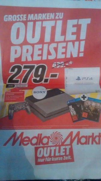 Gebrauchtes PS 4 500GB Bundle mit 2 Games für 279€ @ mediamarkt