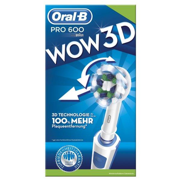 """ORAL-B™ - Elektrische Zahnbürste """"PRO 600 CROSS ACTION"""" für €19,99 [@eBay.de]"""