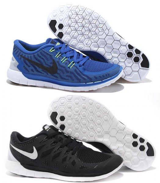 Nike Free Run 5.0 Modell 2015 blau und schwarz für 77,81 € (Größe 40,5 - 47,5)