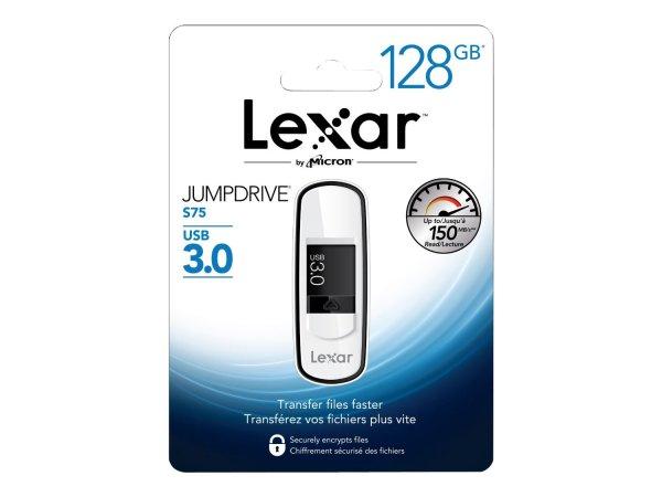 """Lexar™ - 128GB USB-Speicherstick """"Jumpdrive S75"""" (USB3.0,150/60 MB/s) ab €34,35 [@Mymemory.co.uk]"""
