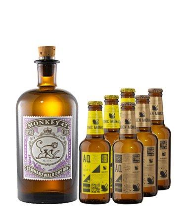 Wieder da : Monkey 47 Gin - mit Aqua Monaco Tonics für 31,91 Euro inkl. VSK @ gourmondo.de