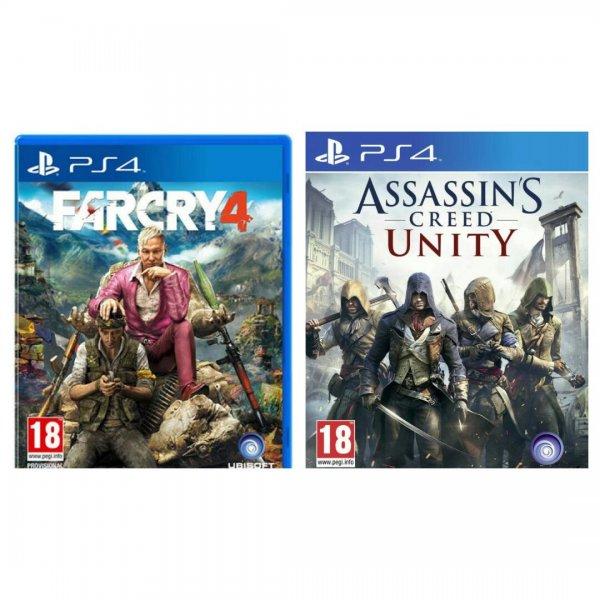 [HDGameShop.at] FarCry 4 [AT-Pegi] + Assassins Creed Unity für die PlayStation 4 für nur 34,99€ - Idealo ab 61,42€