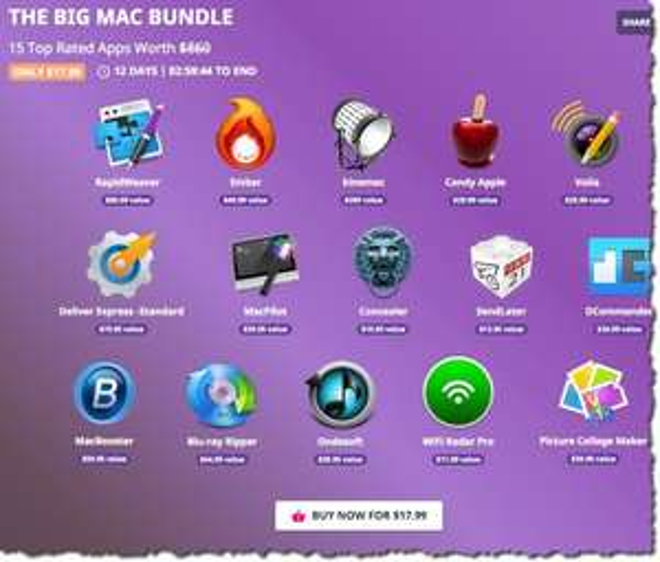 [Bundlehunt] Das Big Mac Bundle, 15 Apps für ca. 16 EUR, noch 3 Tage