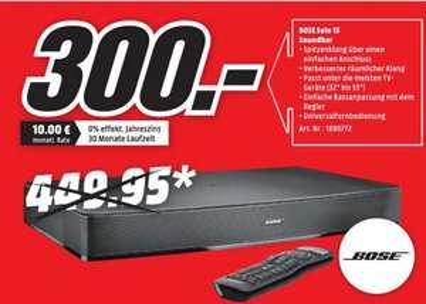 BOSE Solo 15 Soundbar 300€