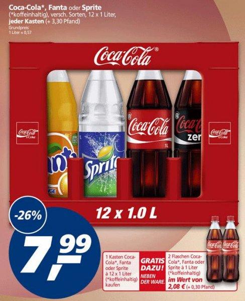 Coca-Cola 1L Kiste für 7,99 + 2 Flaschen Gratis
