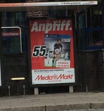 Fifa 16 PS4 bei Media Markt in Hamburg ab morgen (23.09.) für 55 €