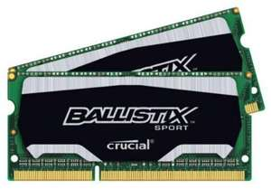 Ballistix Sport  8GB Kit (4GB x 2) DDR3 PC3-14900 Unbuffered NON-ECC 1.35V (BLS2C4G3N18AES4CEU) für 41,77 € @Amazon.co.uk