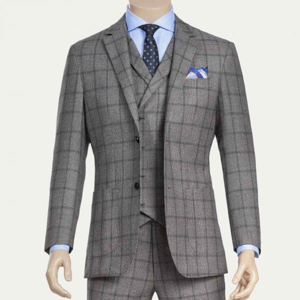 dreiteiliger British Style Maßanzug aus 100% Wolle