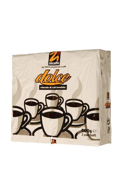 [MediaMarkt] Kaffee ZICAFFE Dolce Bipack Röstkaffee gemahlen 500 g (versandkostenfrei)