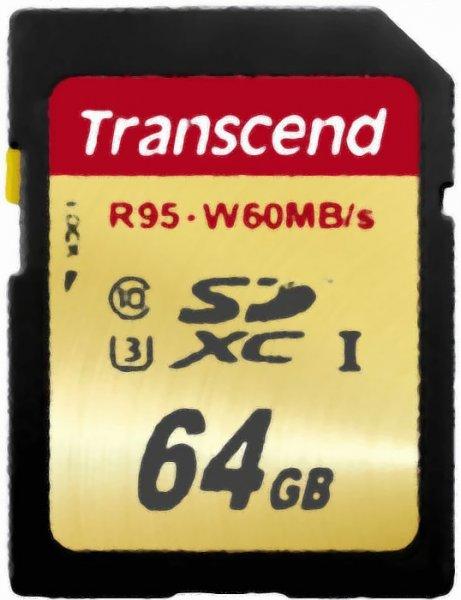 [Amazon] Transcend SDXC UHS-I U3 64GB - 24,99€ mit Prime, sonst ggf. + 3€VSK