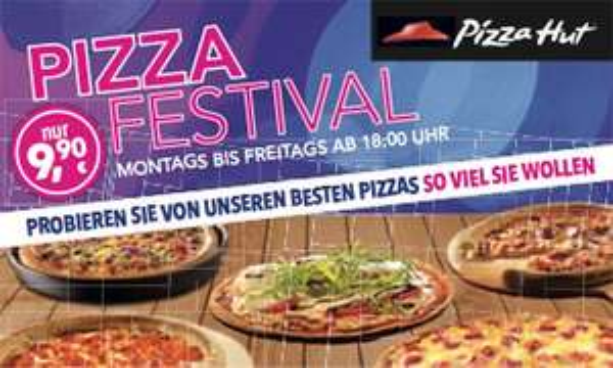 """Pizzahut """"Pizza Festival"""" -Mo-Fr: All u can eat Pizza mit Lieferung an den Tisch"""