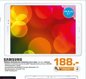 (Lokal Bad Homburg) Samsung Galaxy Tab A 16GB für 188€ @ Saturn