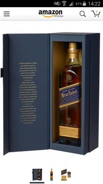 [Amazon Blitzangebot] Johnnie Walker Blue Label mit Geschenkverpackung 34% reduziert