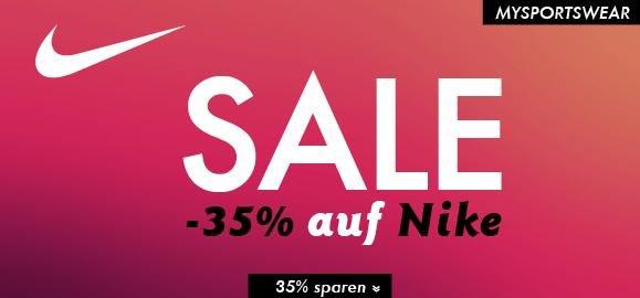 [my-sportswear.de] Nike-Sale -35%+5€ Gutschein, vskf.