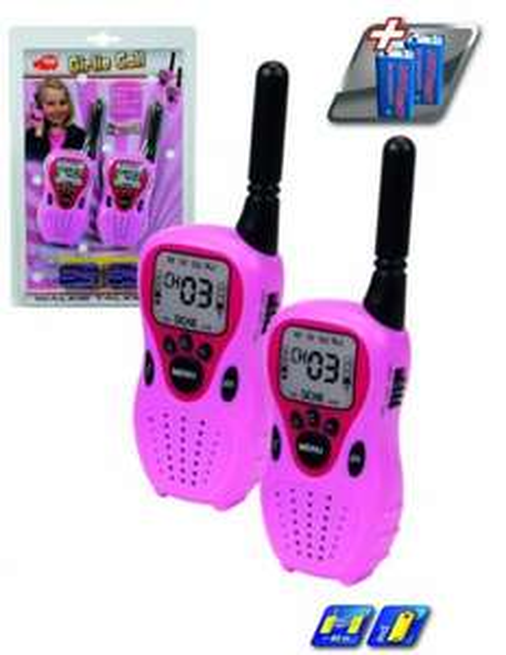 [Amazon.de-Prime] Dickie-Spielzeug 201118114 - Walkie Talkie Girlie Call, Sprechfunkgerät, 2 Stück