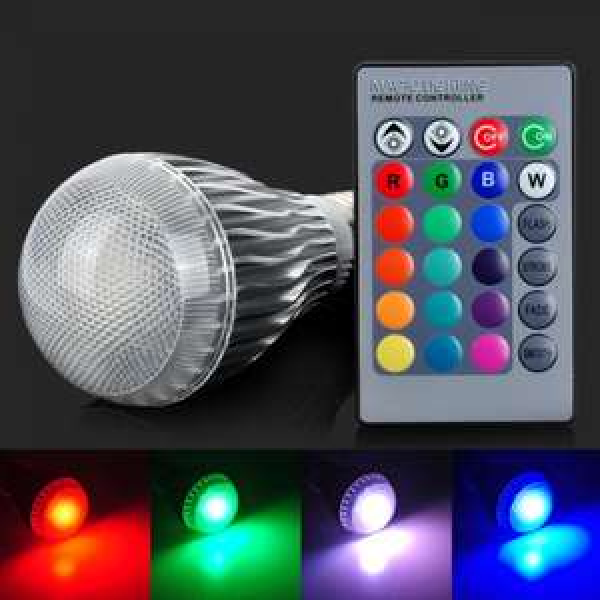 E27 10W LED Globe Glühbirne RGB 500 Lumen mit Fernbedieunung (AC 85~265V) (allbuy)