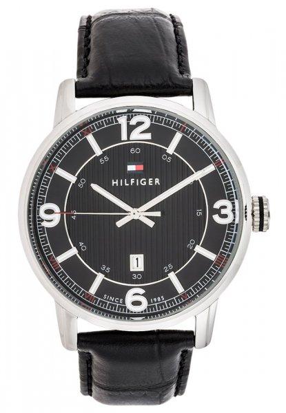 Tommy Hilfiger TRENT Armbanduhr Schwarz mit Lederarmband für 75,95€ @ Zalando