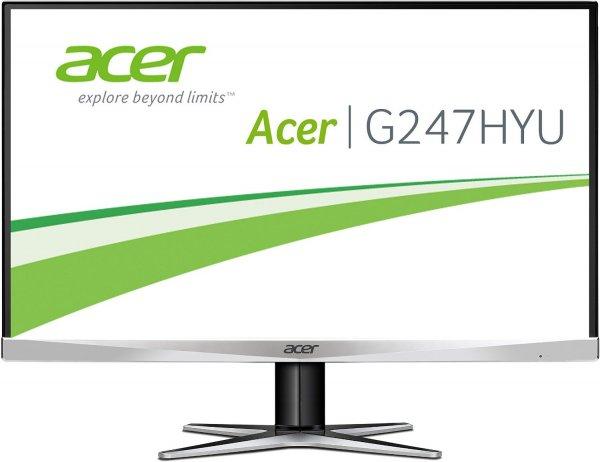 Acer G247HYUsmidp 60 cm (23,8 Zoll) Monitor (DVI, HDMI, Displayport, WQHD 2.560 x 1.440, 4 ms Reaktionszeit, EEK B) für 239€ bei Cyberport.de