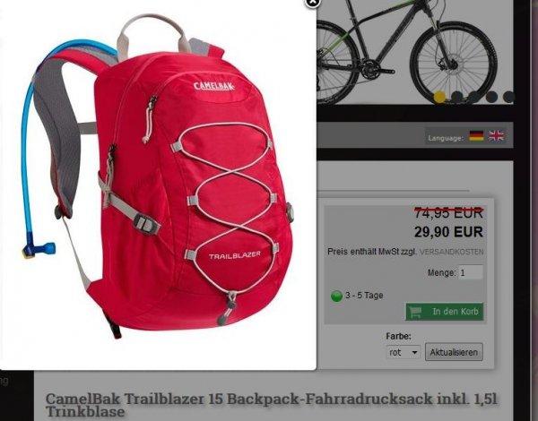Trinkrucksack CamelBak Trailblazer für 34,90 Euro inkl. Versand