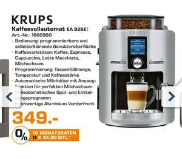 [Saturn / Berlin] KRUPS EA826E Kaffeevollautomat 349€