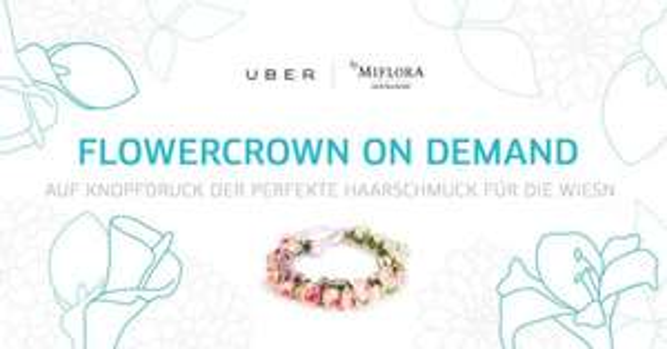 Nur München - Uber liefert Blumenkränze von Miflora