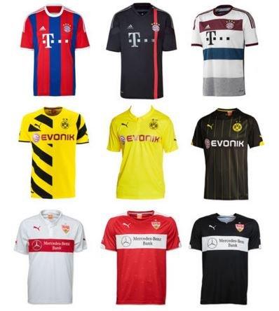 Fußball Trikots - verschiedene Vereine und Modelle National und International