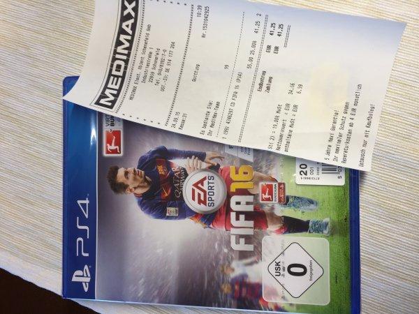 FIFA 16 für PS4 für 41,25 Euro (MediMax)