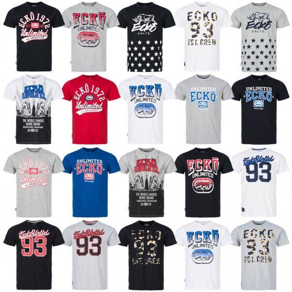 ECKO Unlimited Streetwear T-Shirt Herren Kurzarm Freizeit Shirt S M L XL 2XL neu